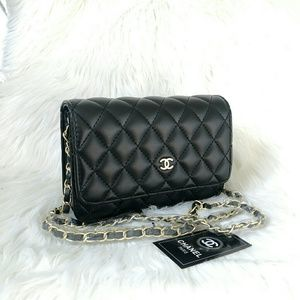 Limited Chanel Chain Gold Hardware Cross Flap
